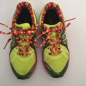 ASICS T480N Neon Yellow Green Running Shoes